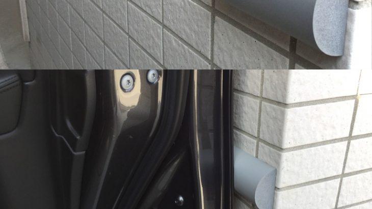 運転席側に柱がある駐車場で、乗り降りに非常に苦慮していました